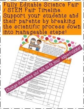 Editable Science /STEM Fair Timeline