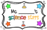 Editable Science Stars Bulletin Board Sign