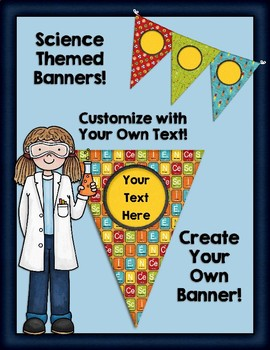 Editable Science Themed Banners for Classroom Decor