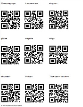 Editable Science Tools Lesson with a QR Code Option