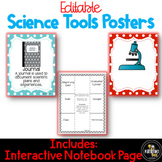 Editable Science Tools Posters