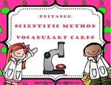 {Editable} Scientific Method Vocabulary Cards- Bright Theme