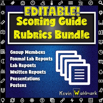 Editable Scoring Guide Rubrics Bundle