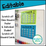 Editable Scratch Off Class Reward Poster and Individual St