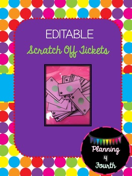Editable Scratch Off Tickets