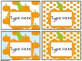 Editable Labels-Scribble Pumpkin Labels