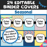 Editable Seasonal/Monthly Binder Covers and Spines