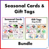 Editable Seasonal Cards and Gift Tags Ultra Bundle