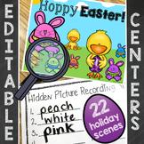 Spring Easter Center | Editable Hidden Sight Words, Spelling, Math Center