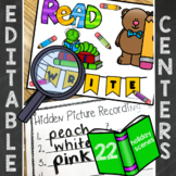 Editable Hidden Sight Words, Spelling, Math Center SET 1