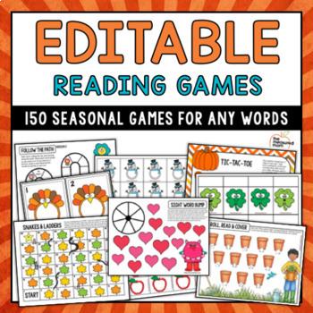 Editable Seasonal Sight Word Games - MEGA PACK!