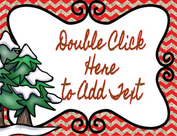 Editable Seasonal Signs in Google Slides™