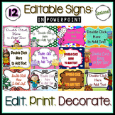Editable Seasonal Signs in PowerPoint