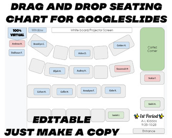 Editable Seating Chart PPT