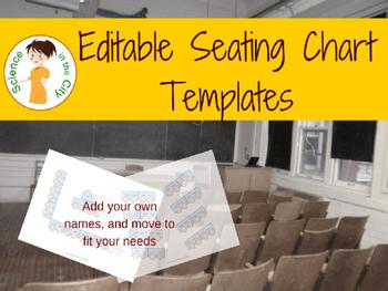Editable Seating Chart Templates