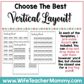 Editable Seating Chart Templates- Just Drag & Drop!
