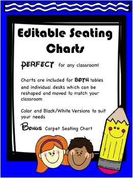 Editable Seating Charts