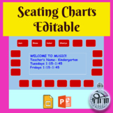 Editable Seating Charts in Google slides or Powerpoint