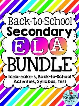 Secondary ELA Back-to-School Bundle