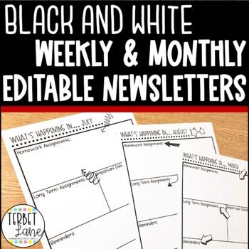 Editable Secondary High School Class Newsletter Template