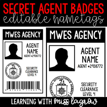photo relating to Secret Agent Badge Printable identify Key Consultant Badges Worksheets Schooling Supplies TpT