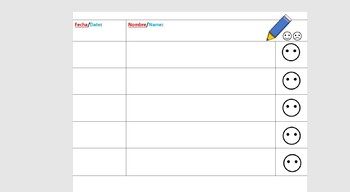 Editable Self Assess Option Daily Sign in Sheet  Dual Language Spanish&English