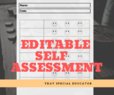 Social Emotional Learning - Editable Self Assessment