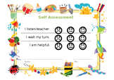 Editable: Self Assessment for kindergartener / pre-schooler.