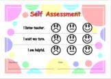 Editable: Self Assessment for kindergartener / pre-schooler.