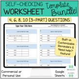 Editable Self Checking Worksheet Template Help & Reminders