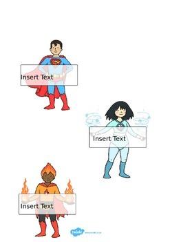 Editable Self Registration Labels (Superhero)