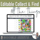 Editable Self-checking Look and find template   Collect and Find