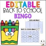Editable  September Back to School Sight Word Bingo