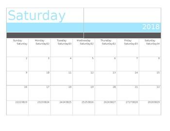 Editable September Calendar