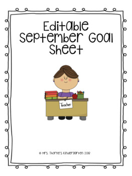 Editable September Goals Freebie