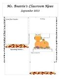 Editable September Newsletter