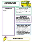 Editable September Newsletter Template for Preschool