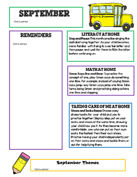 original-2772459-1 Teacher Newsletters Template on owl theme, free preschool, for first grade,