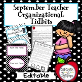 Back to School: Classroom Organization September Teacher Tidbits