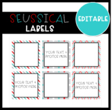 Red and Teal Editable Lables