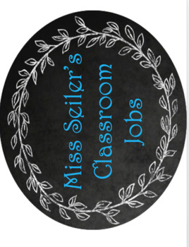 Editable Shabby Chic Burlap Classroom Job Display