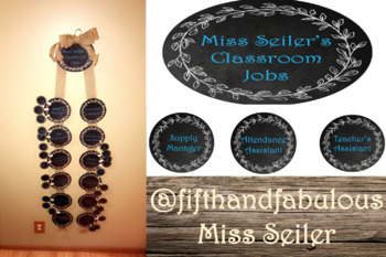 Editable Shabby Chic Burlap Classroom Job Display