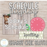 Editable Shabby Chic Daily Schedule Display