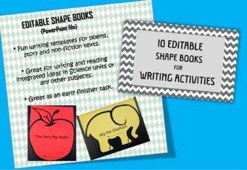 10 Editable Shape Books