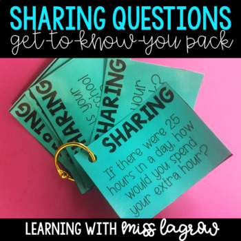 Editable Sharing Questions for Class Morning Meetings