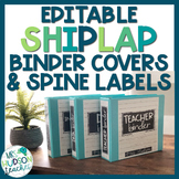 Editable Shiplap Binder Covers and Spine Labels