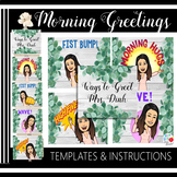 Shiplap Morning Greeting Signs (Editable Templates & Instr