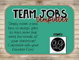 Editable Shiplap Team Jobs Template