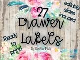 Editable Shiplap Watercolor Drawer Labels