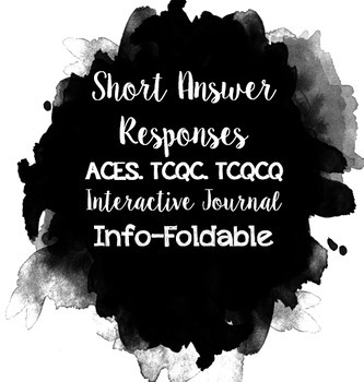 Editable Short Response Info-Foldable